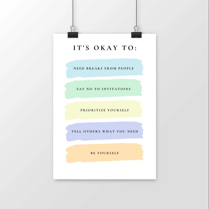 It's okay to: - Poster