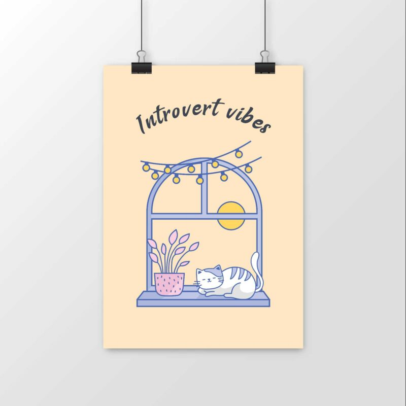 Introvert vibes - Poster